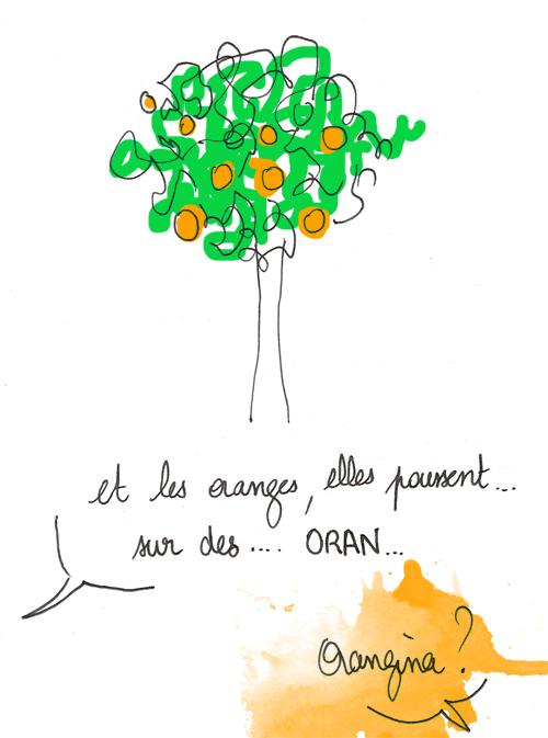 Les oranges poussent sur des Orangina